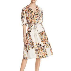 Tory Burch Arabella Psychedelic Geometric Tiered Dress XS